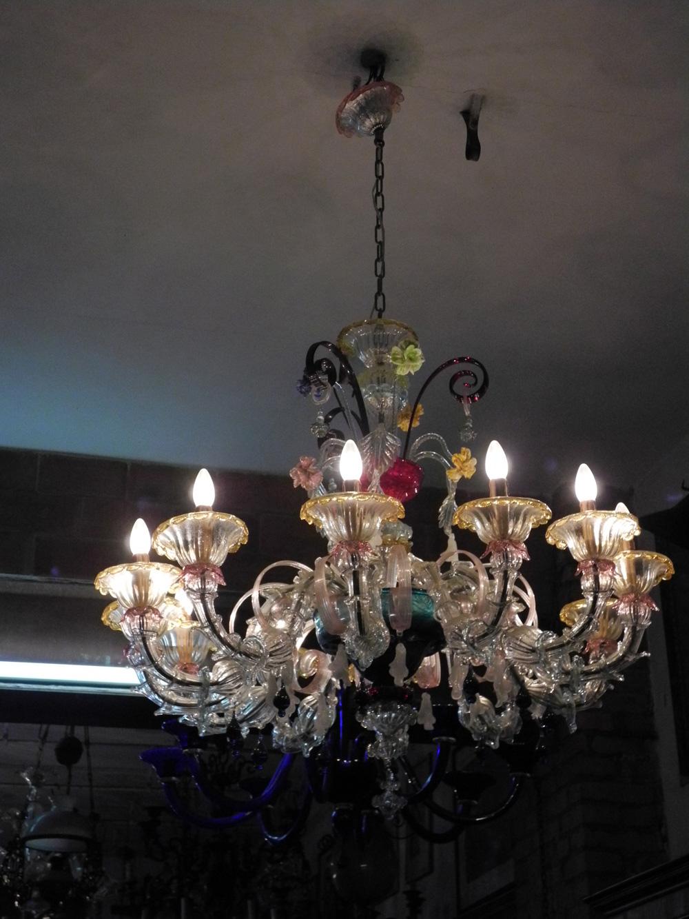 lampadari lucca : Lampadario Murano in Vetro e Ferro Ca Rezzonica